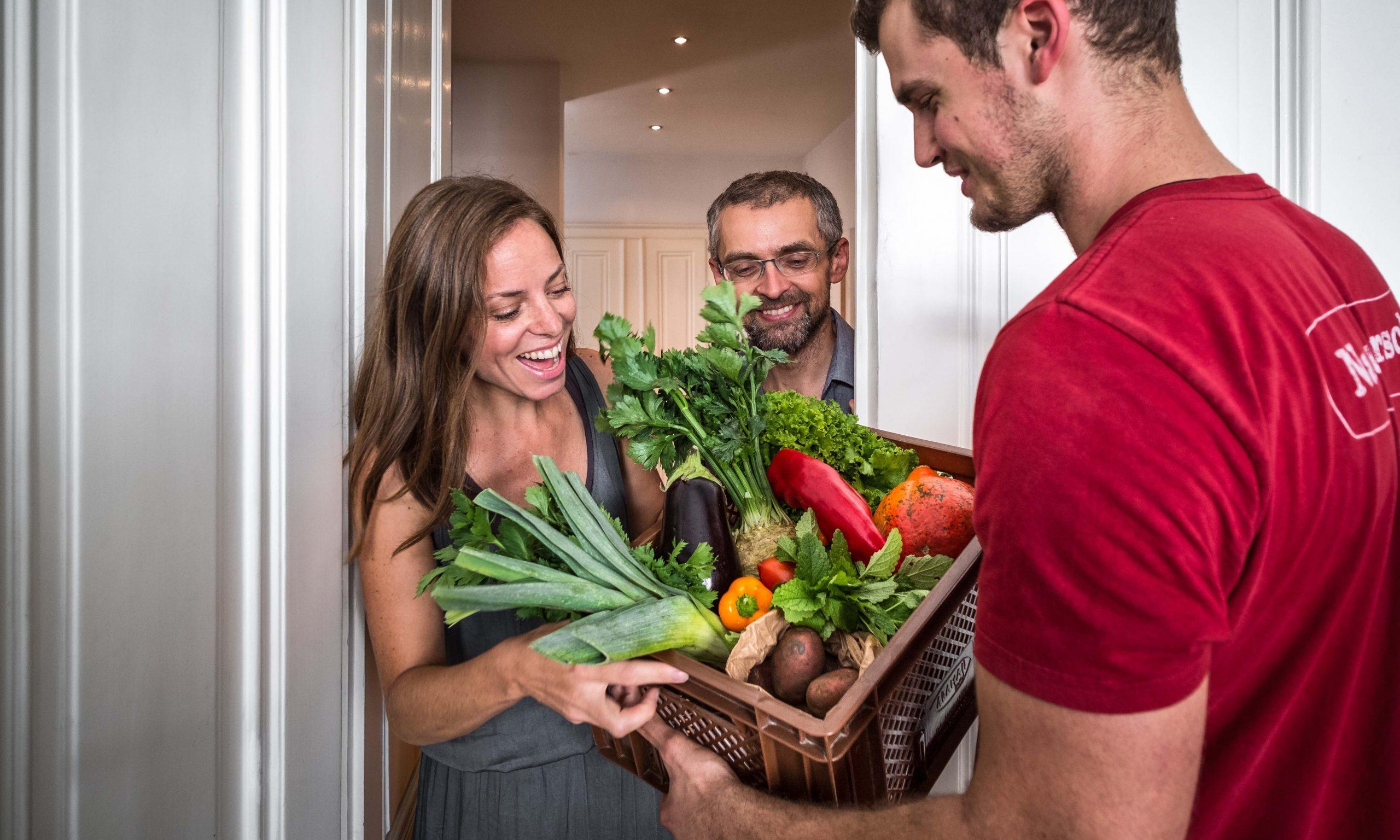 Lieferung Gemüse